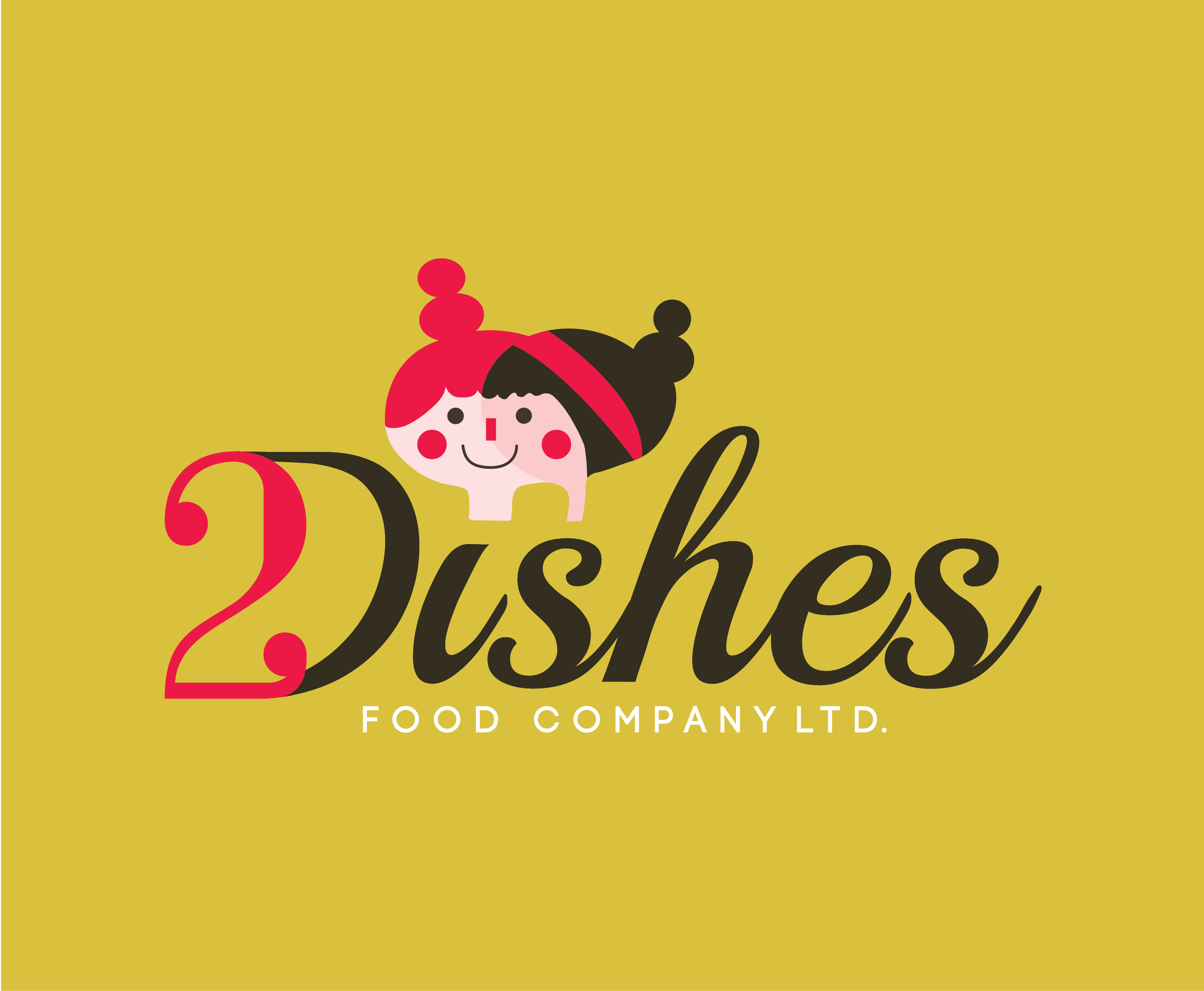 2 Dishes Food Company, Logo, Branding